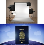 In studio Passport Photo Service