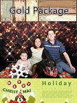 Family Christmas photo-Gold Package